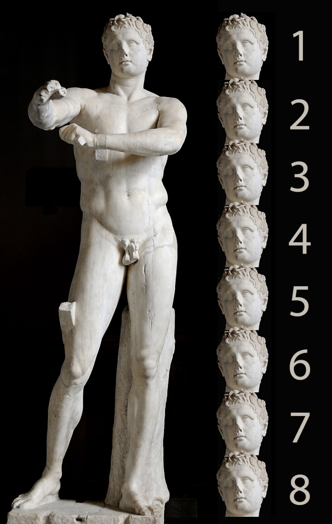 Apoxyomenos canon 8 cabezas