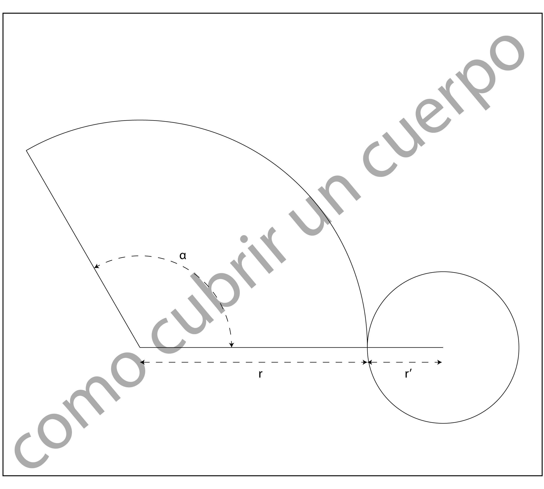 Patrón De La Falda Circular De Menor Vuelo
