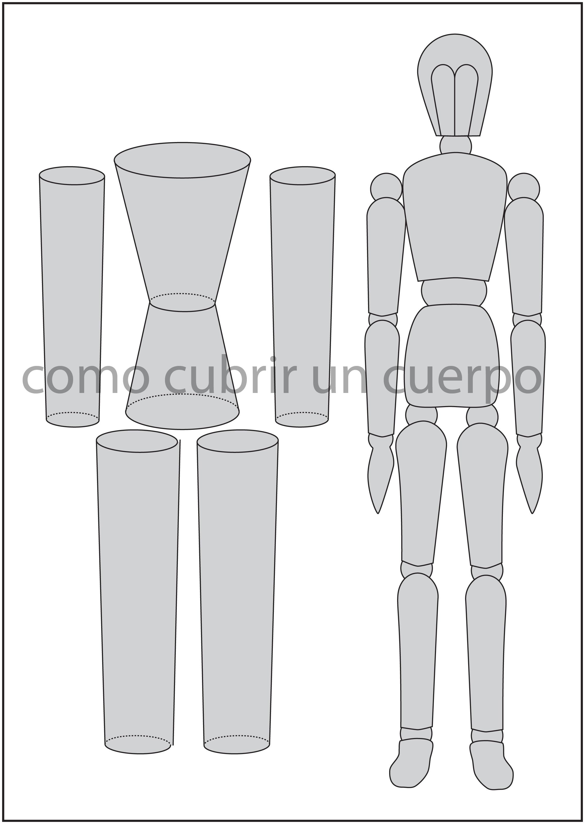 El cuerpo humano y las formas geométricas (1). | Cómo cubrir un cuerpo