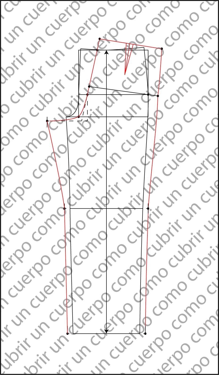 Patrón base del pantalón clásico de caballero conformación normal ...
